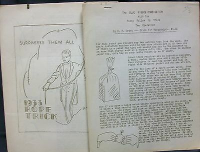 U.F. Grant,  1933 Rope Trick & Blue Ribbon Combination Lecture notes