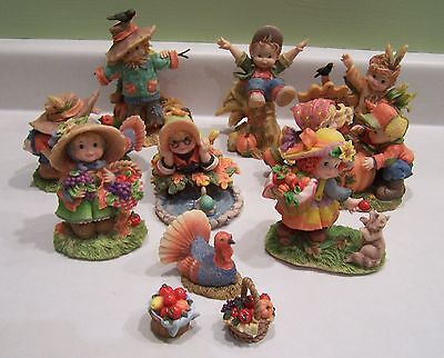 Sweet Harvest Hearts Thanksgiving Fall Halloween Figures figurines Children Cute