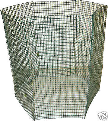 """2 Fold-Away Bush Plant Protector Supporters with Vinyl Coated 1/2"""" Wire Mesh"""