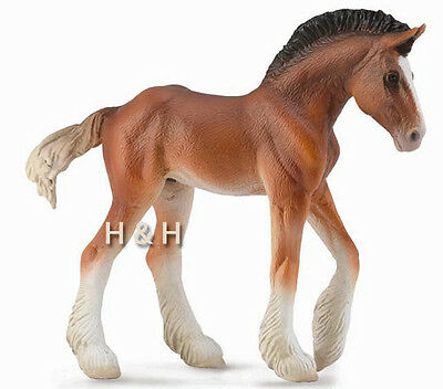 CollectA 88625 Bay Clydesdale Foal Model Horse Toy Replica - NIP