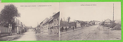 02 - CROUY - La rue de Soissons (Carte panorama = Double)