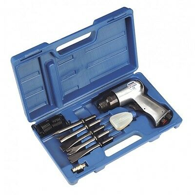 Sa12/s New Sealey Air Hammer Tool Kit Set Inc Chisels