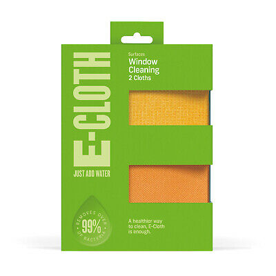 e-cloth Microfibre Window Glass Cleaning Cloth Pack - 2 Cloths WIP