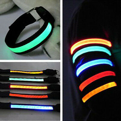 Led Safety Reflective Belt/strap Snap Wrap Arm Band Belt Shine Armbrand LED