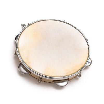 Capoeira Leather Pandeiro Drum Tambourine Samba Brasil Wood Music Instument 10""