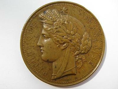 France 1878 International Exposition, Paris. Bronze 51mm by Oudine.