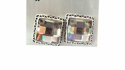 CLIP-ON EARRINGS JEWELED EARRINGS CLEAR OR COLORED 0.75 INCH