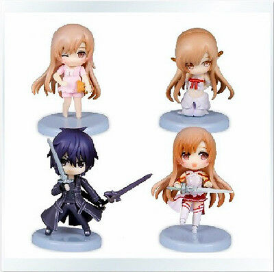 Sword Art Online anime SAO figures toy set 4 pcs new figure Freeshipping