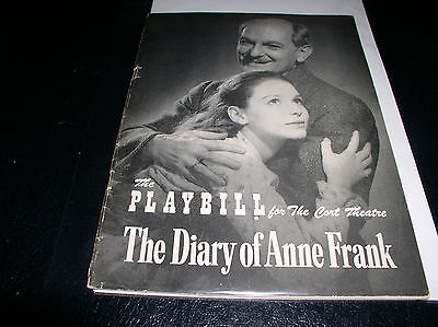 The Playbill, Cort Theatre October 29, 1956