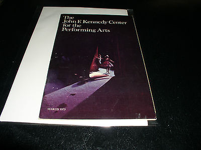 March 1973 Program For The Jfk Center For The Performin Arts' Ballet