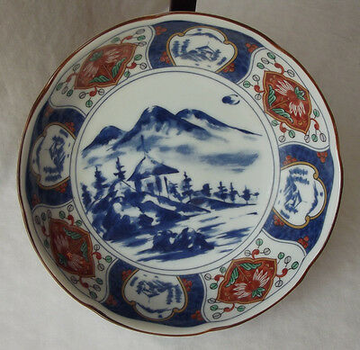 """Vintage Andrea By Sadek Japanese Hand Decorated Bowl With Landscape 6-1/4"""""""