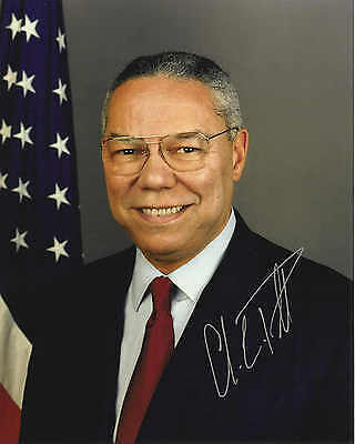 Signed Preprint COLIN POWELL Autographed FORMER SECRETARY OF STATE Photo