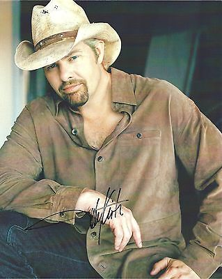 Signed Preprint TOBY KEITH Autographed COUNTRY MUSIC Photo