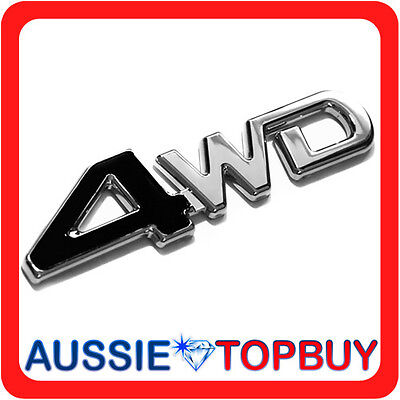 New 3D 4WD Chrome Car Badge Emblem Sticker Logo Sign Auto Self Adhesive Decal