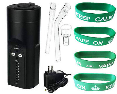 2014 Arizer SOLO Portable Pocket Vaporizer Black KEEP CALM and VAPE ON Bracelet