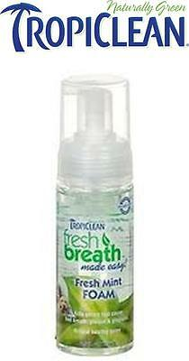 Tropiclean Fresh Breath Foam for Dogs & Cats ~ Freshens without Brushing ~ 133ml