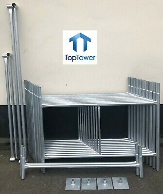 "DIY Scaffold Tower 5.2m (4' x 4' x 17'0"" WH) Galvanised Steel"