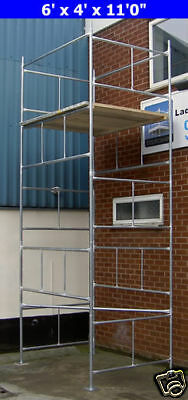 "DIY Scaffold Tower 5.2m (6' x 4' x 17'0"" WH) Galvanised Steel"