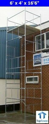 "DIY Scaffold Tower 6.9m (6' x 4 'x 22'6"" WH) Galvanised Steel"