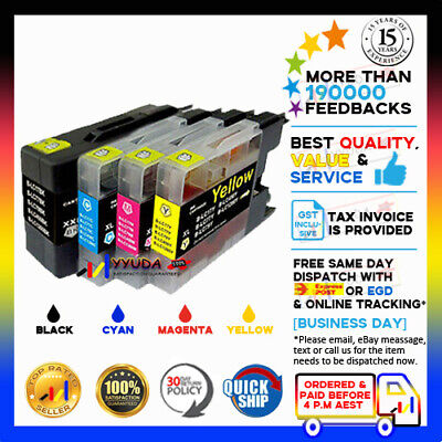 30 INK LC-77XL LC77XL for BROTHER MFC-5910 6510 J6710 J6910 PRINTER - 75ML Black