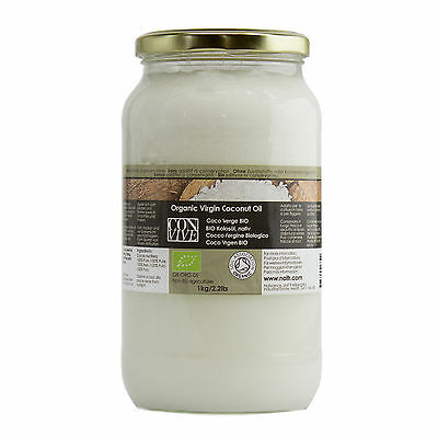 Coconut Virgin Certified Organic Food Grade Oil 1Kg by Naissance