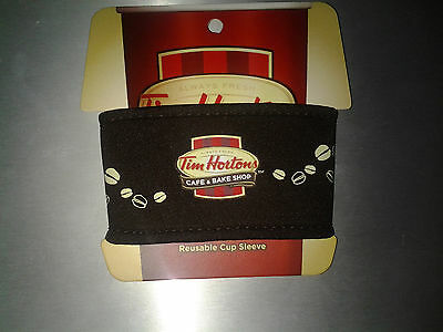 TIM HORTONS Coffee Reusable Cloth Cup Sleeve