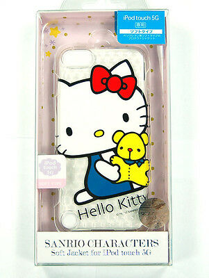 Hello Kitty Genuine Sanrio iPod touch 5 5G soft case cover clear TPU white JAPAN