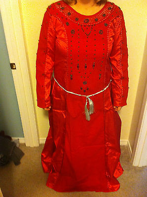 Museum Replicas Limited Red Medieval Renaissance Dress Size L NEW