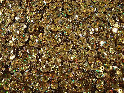Sequins Cup 6mm Laser Gold 20g Dance Costume Bead Craft Sew FREE POSTAGE