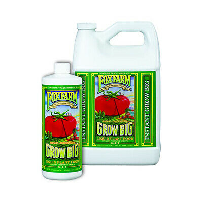 Fox Farm Grow Big Soil 1 Quart, 32oz, 1 Gallon -qt nutrients foxfarm hydroponics