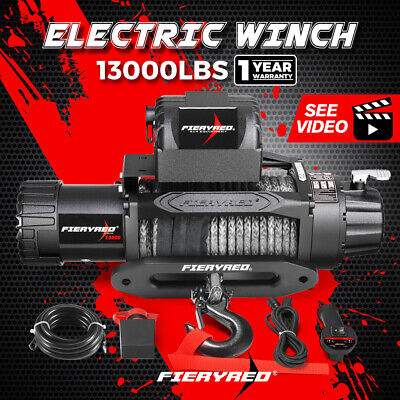 14500LBS Steel Cable Winch Electric Wireless Remote 4WD Truck Offroad 12V 6577KG