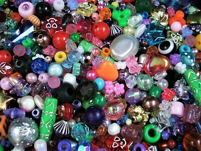 Beads Plastic Fun Mix 25g Party Kids Craft Jewellery Spacer JewelryFREE POSTAGE