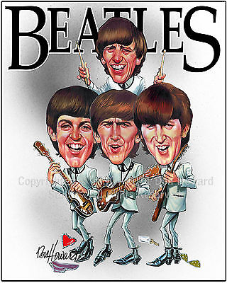 Don Howard's Depiction of the Beatles Celebrity Caricature