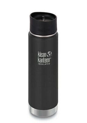 KLEAN KANTEEN 592ml 20oz INSULATED WIDE SHALE BLACK Water Coffee Soup Bottle