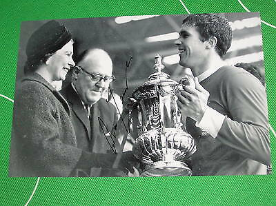 Liverpool Ron Yeats Signed 1965 FA Cup Final Trophy Presentation Photograph