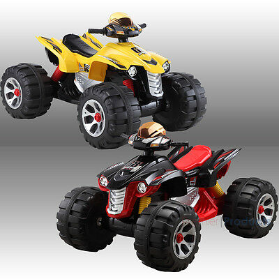 Big Kids Ride On Quad Bike Electric Childrens 12V Atv Battery Toy Car Scooter