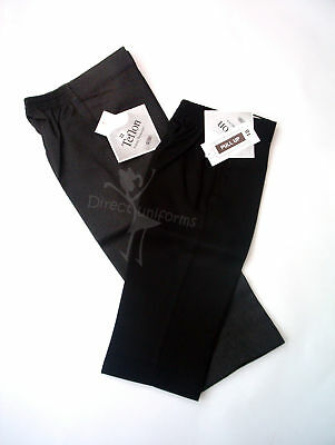 *Boys-School/Formal-*Slim Fitting* Pull-Up Trousers-Black/Grey-18Mth-7Yrs*Value