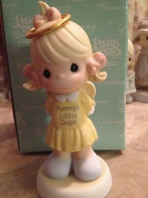 Precious moments mommy's little angel blond girl figurine brand-new in box