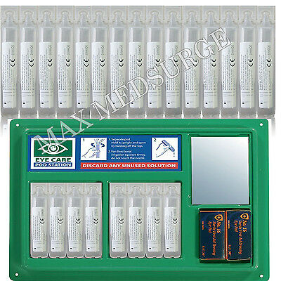 Eye Wash Pods Station, 20ml Sterile SALINE Refills , Lens Wound Irrigation, CE