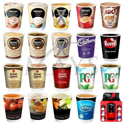 120 Kenco 2 Go Nescafe and & Go 12oz Incup Hot Drink Soup Sleeve for &Go Machine