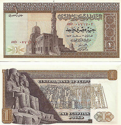 Egypt 1973 One Pound Uncirculated note
