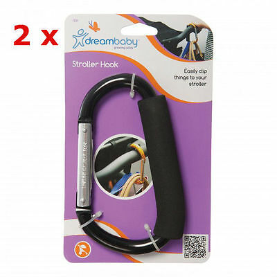 New 2 x Dreambaby Stroller Pram Shopping Bag Hook Dream Baby
