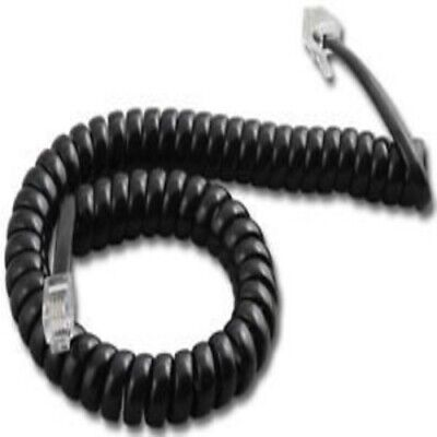 Lot of 50    12ft 12' 12 Foot      Black Handset Receiver Coil Phone Curly Cord