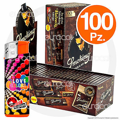 6000 Cartine SMOKING BROWN Corte 100pz Senza Cloro Non Sbiancate - 2 Box
