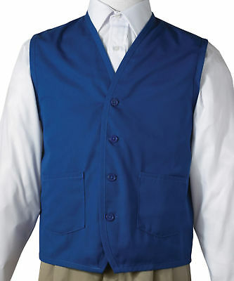 Edwards Garment Men's Front Button Waist Pocket Apron Vest. 4106