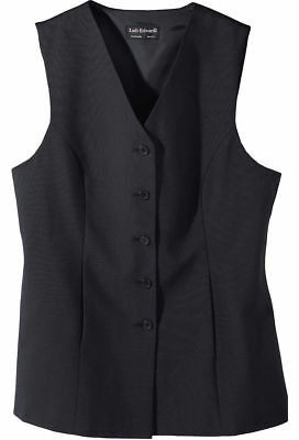 Edwards Garment Women's Front Pocket Polyester Fully Lined Tunic Vest. 7270