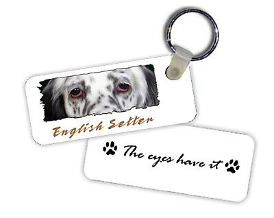 English  Setter  blue  belton   # 1   The  Eyes Have It   Key  Chain