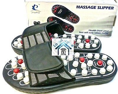 Massage Slippers Sandal Feet Chinese Acupressure Acupuncture Therapy Medical UK