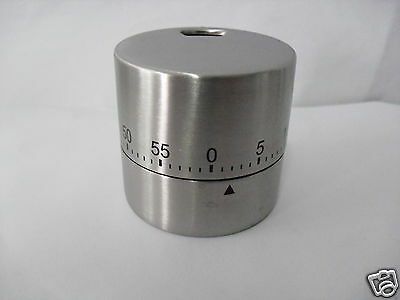 Stainless Steel Home Food Baking Cooking Egg Sharp Kitchen Timer 60 Minutes