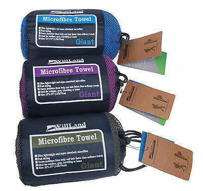 WillLand Outdoors Micro-fibre Travel Towel Giant (Purple)